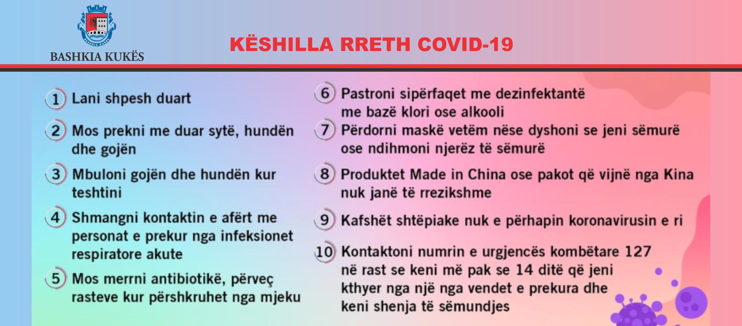 KESHILLA RRETH COVID-19