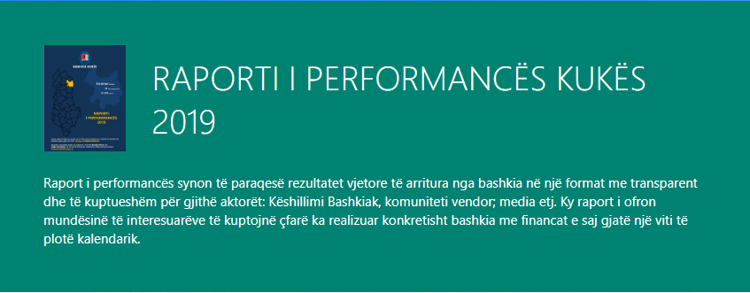 Raporti i Performances Kukes 2019
